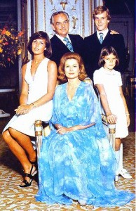 Prince Ranier, Princess Grace and family about the time I met them